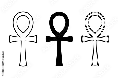 Photographie Three ankh symbols