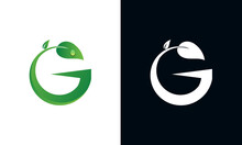 Organic Logo With The Initials Letter G