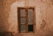 Broken Window Of Old House