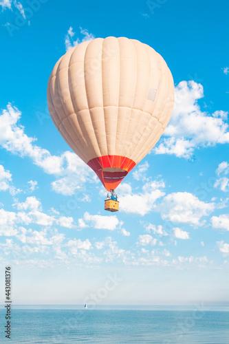 Fototapeta balloon, air, hot, sky, hot air balloon, balloons, colorful, flying, fly, flight