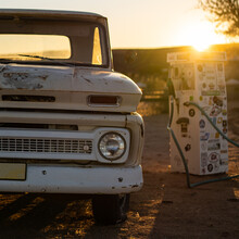 Old Rusty Car Sunset