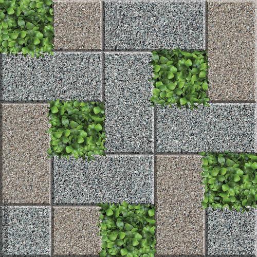 Floor Tiles Texture Design Fototapet