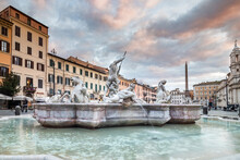Piazza Navona Fountain Rome, Italy Bernini Sculpture