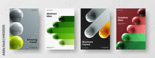 Fotografia Abstract leaflet A4 vector design illustration set