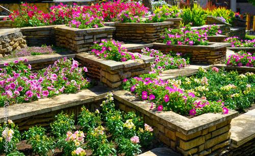Canvas-taulu Landscape design of nice home garden in summer