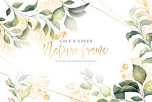 Gold Green Nature Frame