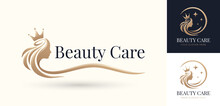 Beauty Hair Queen Logo Design