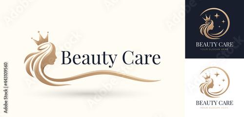 beauty hair queen logo design Fototapeta