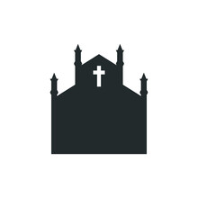 The Holy Place Of Worship Is The Church. Vector Icon