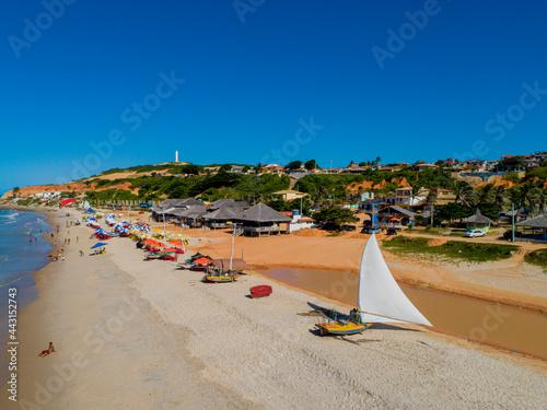 Fotografia Praia de Morro Branco no Ceará