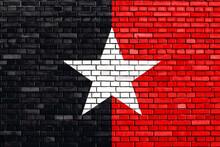 Flag Of Kenya Somalis Painted On Brick Wall