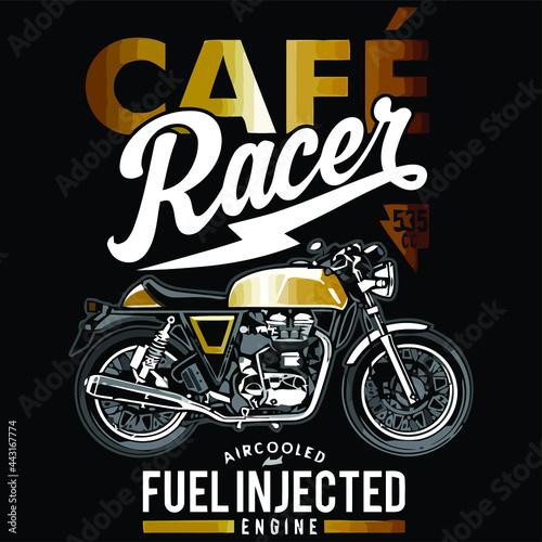 cafe racer ringer Design vector illustration for use in canvas poster design Fotobehang