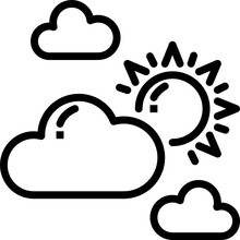 Partly Cloudy Outline Icon