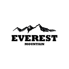 Mountain Logo Black Color Everest Outdoor Business Activity Rent Camping Ground Logo