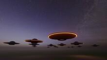 Ufo Invasion In Sky