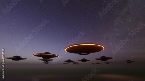 Fotografering ufo invasion in sky