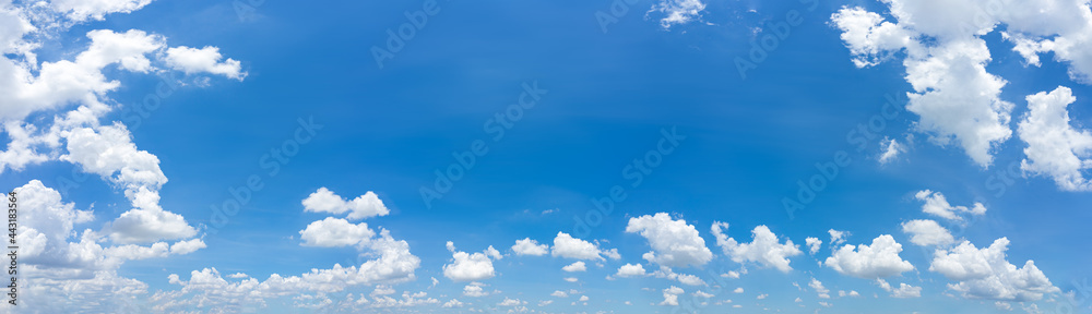 Obraz Beautiful panorama blue sky and clouds with daylight natural background. fototapeta, plakat