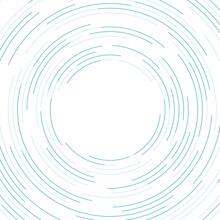 Blue White Minimal Lines Abstract Futuristic Circles Tech Background. Vector Digital Art Design