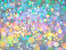 明るい光を乱反射するグリッター