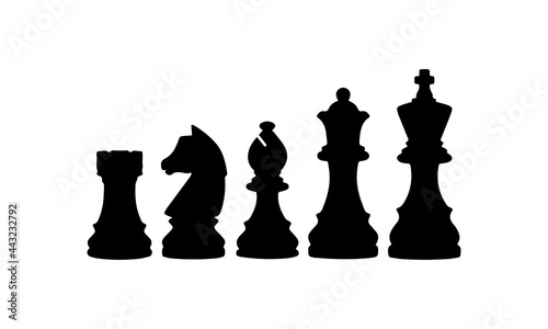 Fotografering Rows Of Chess Pieces icons vector design