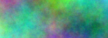 Colorful Banner. Greenish. Banner Abstract Background. Blurry Color Spectrum, Texture Background. Rainbow Colors. Vivid Colors Spectrum Background.
