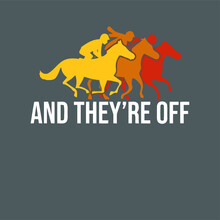 And Theyre Off Horse Racing Art Horse Race Betti Terry Design Vector Illustration For Use In Design And Print Poster Canvas