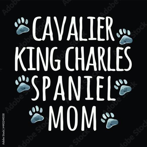 Fotografija cavalier king charles spaniel dog mom dog lover pa art crewneck sweat design vec