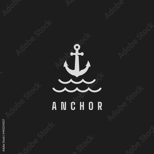 Obraz na plátně Anchor logo design inspiration vector template