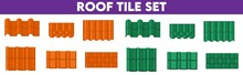 Shapes Or Profiles Of Roof Tile Roof Pattern Sets.