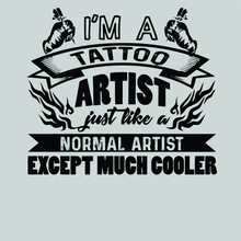 Cooler Tattoo Artis Rolled Design Vector Illustration For Use In Design And Print Poster Canvas