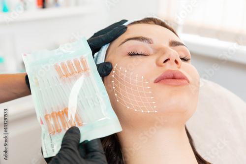 Fotografia, Obraz Facial lifting thread