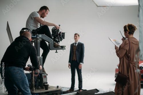 Fotografiet Carts, rails for filmmaking