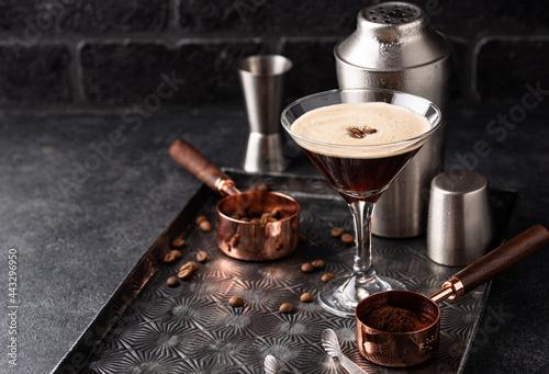 Espresso Martini cocktails with coffee beans фототапет