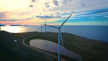 Wind Turbine On The River