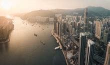 Tsuen Wan At Sunset