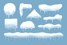 Vector Set Of Snow Caps