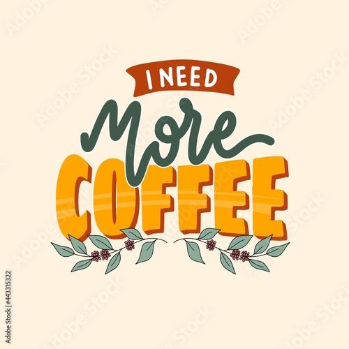 Fotografiet I need more coffee