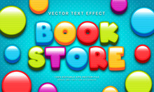 Book Store Editable Text Effect With Multiple Color Theme