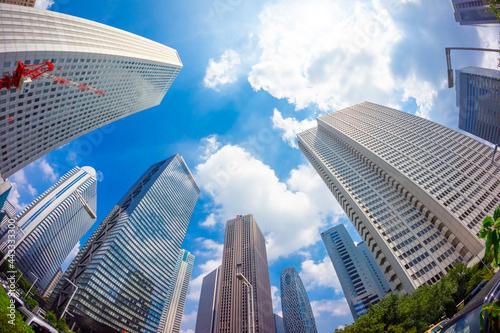 東京 新宿高層ビル街 Fototapet