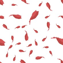 Seamless Vector Abstract Pattern Brush Strokes Is Red Color