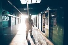Spaceman In A Futuristic Station