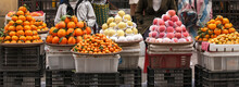 Fresh Fruits Selling At Lao Cai Street Food Market.