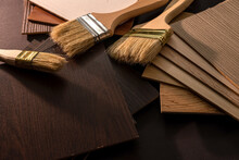 Vinyl Flooring With Brushes For House Renovation