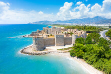 Panoramic View Of The Mamure Castle In Anamur Town, Turkey