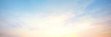 Sky Panorama Natural Colors Evening Sky Shine New Day For Heaven, The Light From Heaven From The Sky Is  Mystery, In The Twilight Golden Atmosphere, Modern Sheet Structure Design, New Banner Web 2021