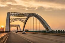 City Harbour Bridge At Sunset