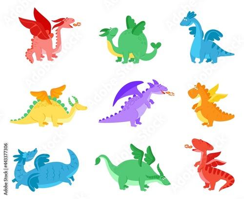 Photo Cartoon dragons