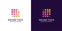 Molecule Technology Logo Template With Modern Abstract Concept Premium Vector Part 3