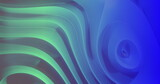 Green and blue light and shadwo playing on moving 3d grooved abstract shape