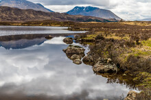 A View Along The Shores Of Loch Ba Near Glencoe, Scotland On A Summers Day